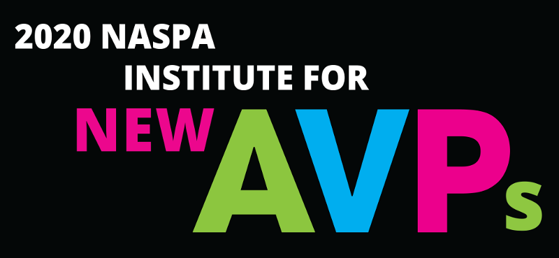 2020 NASPA Institute for new AVPs