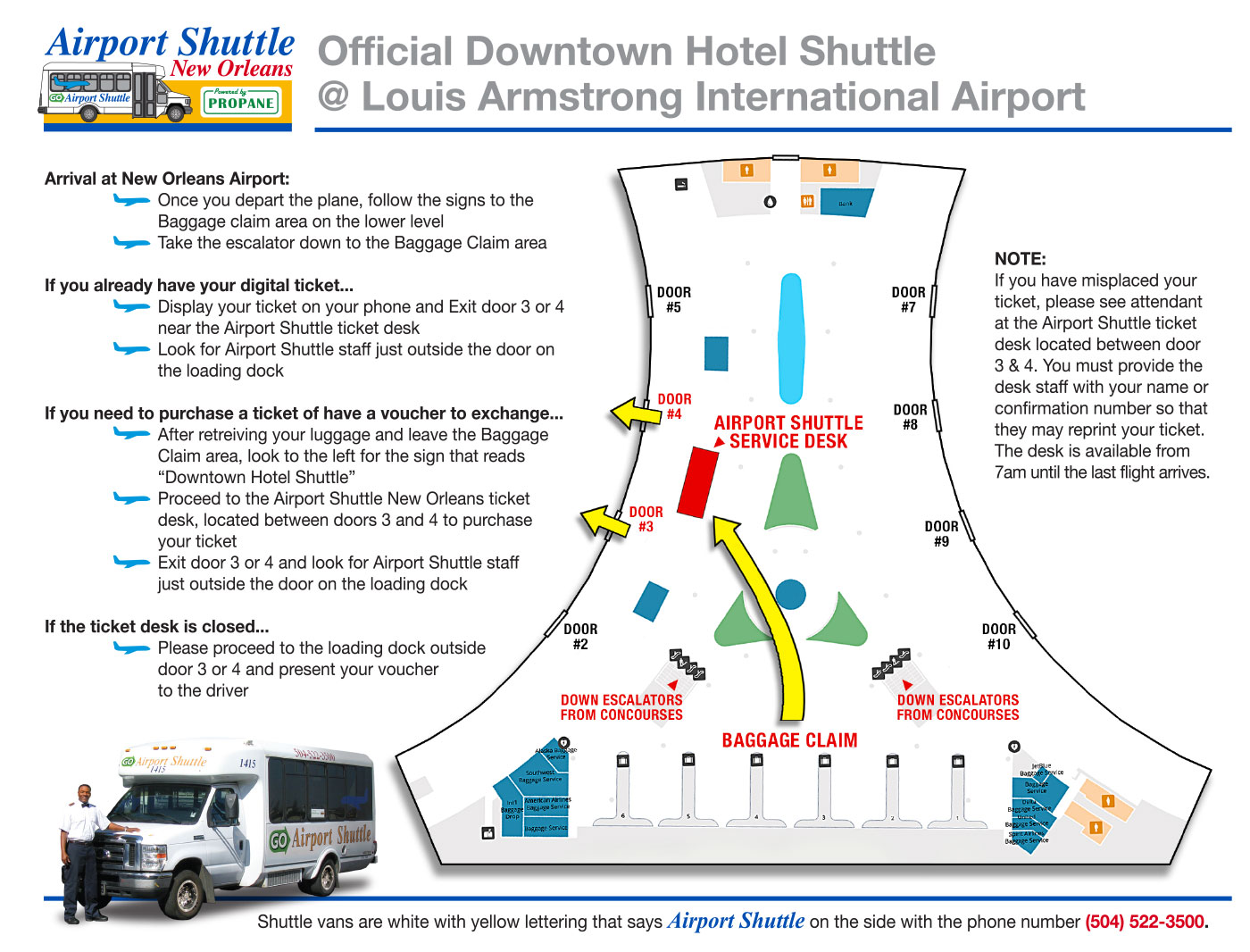 Locations Airport Map Airport Shuttle New Orleans